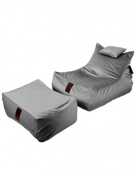 Sitzsäcke SET Lounge XXL Luxury Grey | Wegett